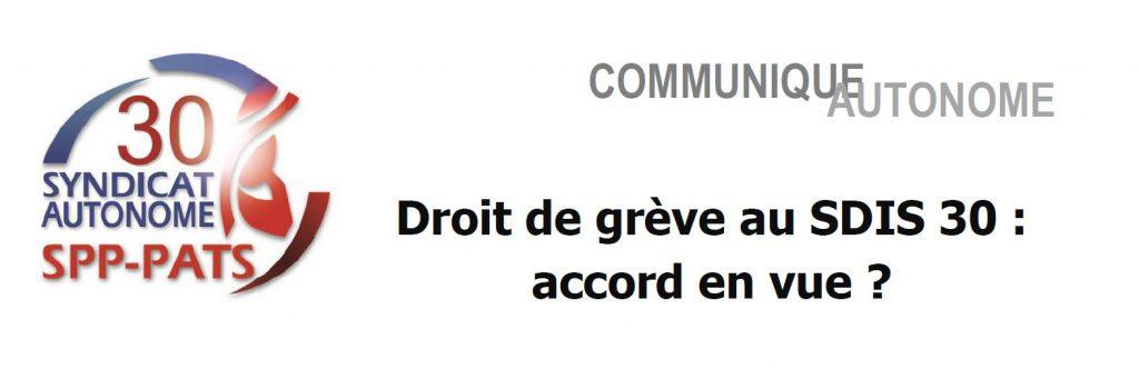 SA 30 - DROIT DE GREVE AU SDIS 30