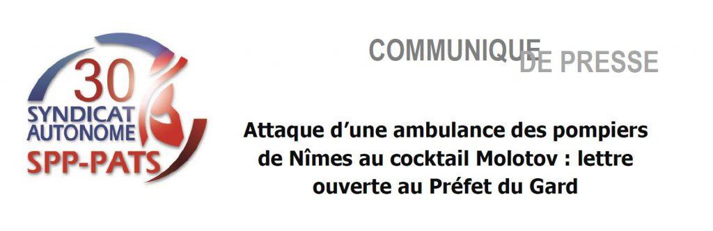 SA 30 -- attaque d'une ambulance