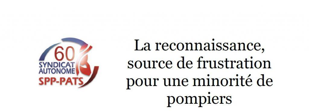 SA 60 -- LA RECONNAISSANCE SOURCE DE FRUSTRATION