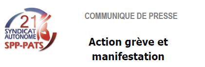 SA 21 - Communiqué de presse manifestation